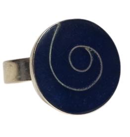 Sodalite Swirl Ring