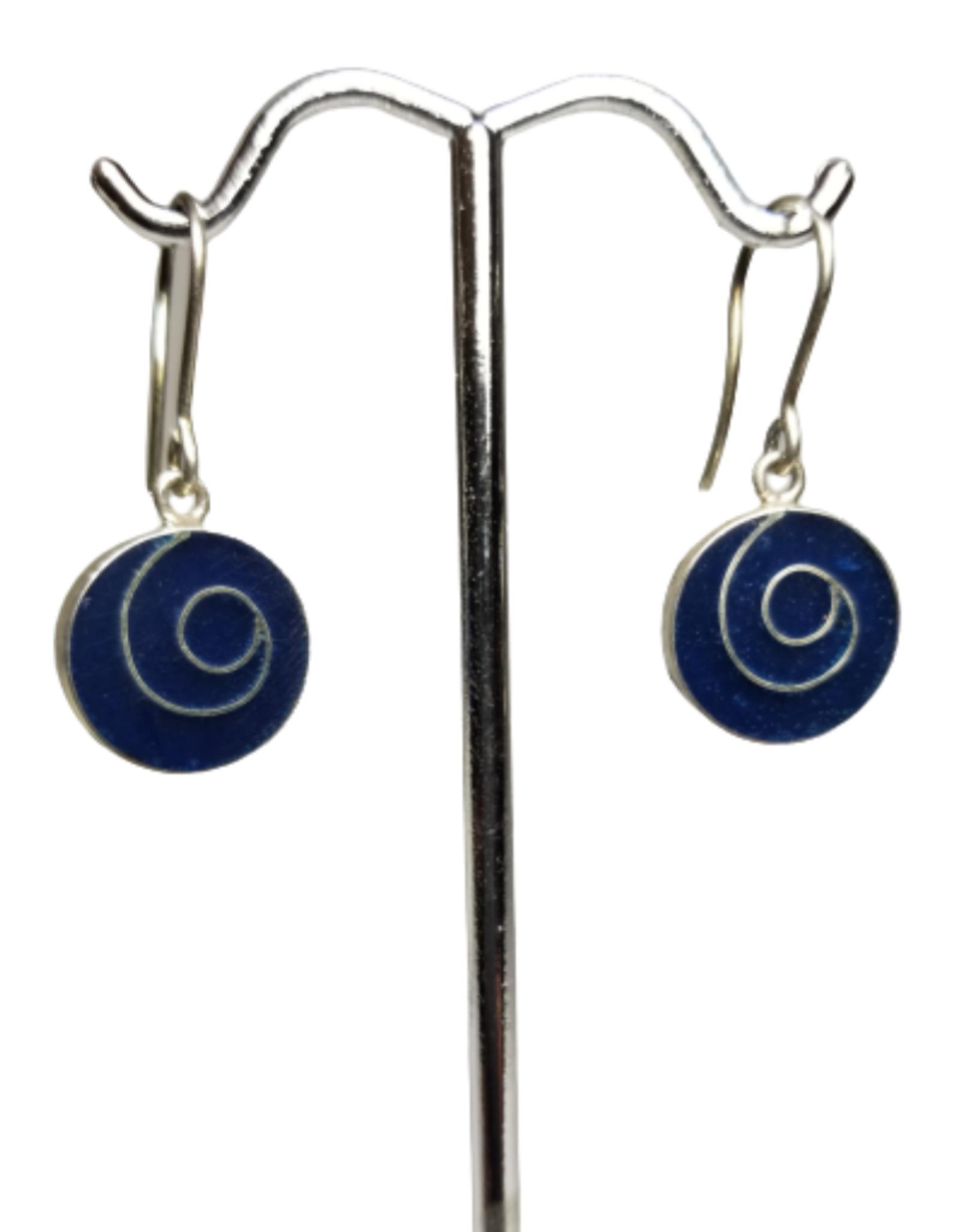 Sodalite Swirl Earrings