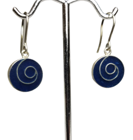 Sodalite Swirl Earrings