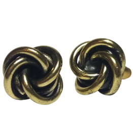 Twisted Knot Stud Earrings