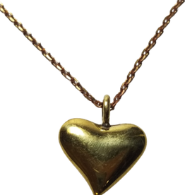 Brass Bombshell Heart Necklace