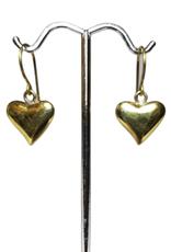 Brass Bombshell Heart Earrings