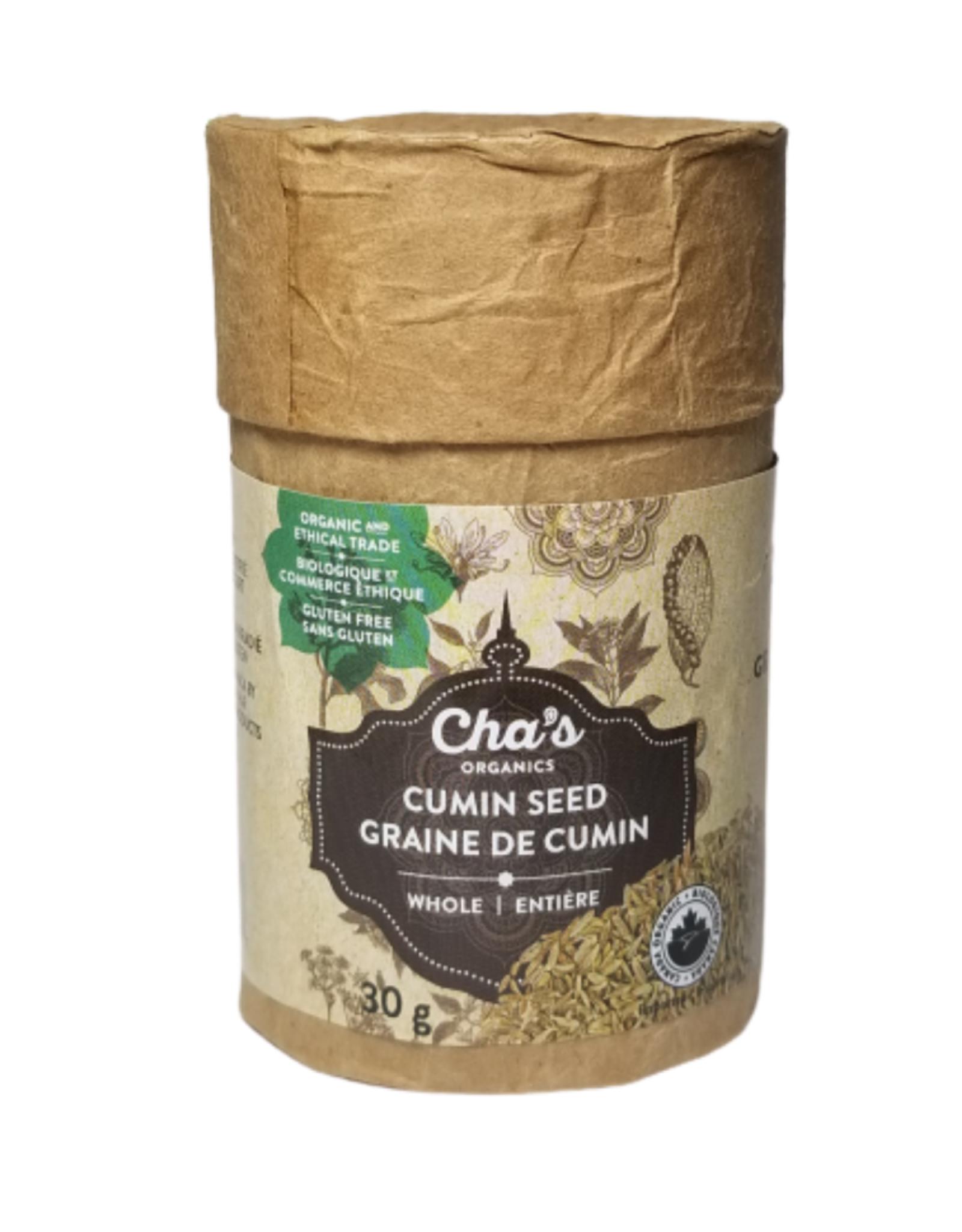 Cha's Organics Cha's Cumin Seed 30g