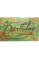 Green & Orange Happy Birthday card