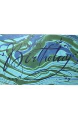Green & Blue Happy Birthday card