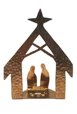 Ten Thousand Villages Clear-Cut Copper Nativity