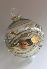 Dandarah Blown Glass Ornament - Green Garland