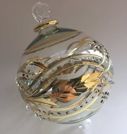 Dandarah Blown Glass Ornament - Green Garland