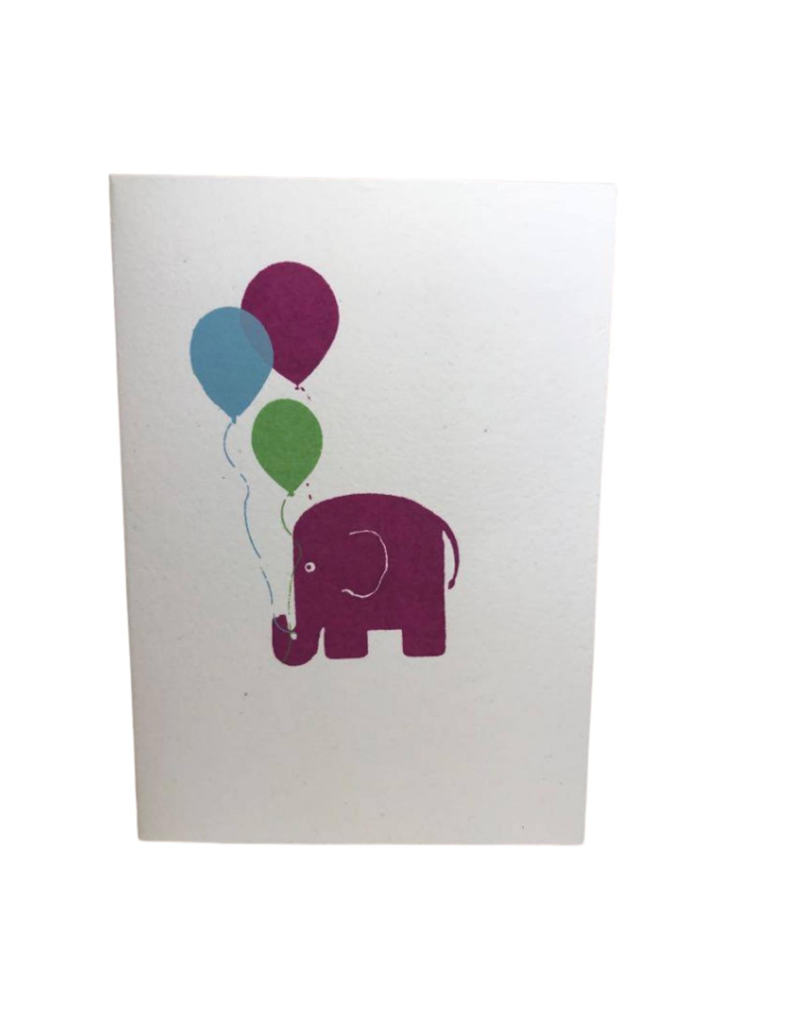 Pink Elephant Celebration card