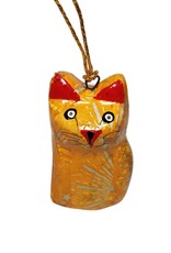 Global Crafts Ornament, Handpainted Cat Figurine