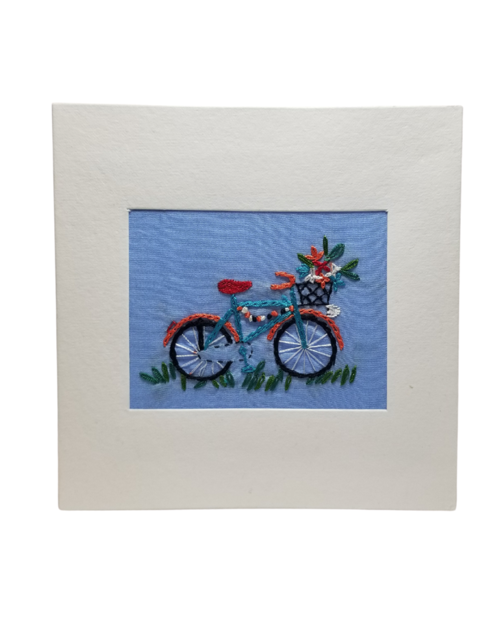 Flowers in the Basket Bicycle Greeting Card