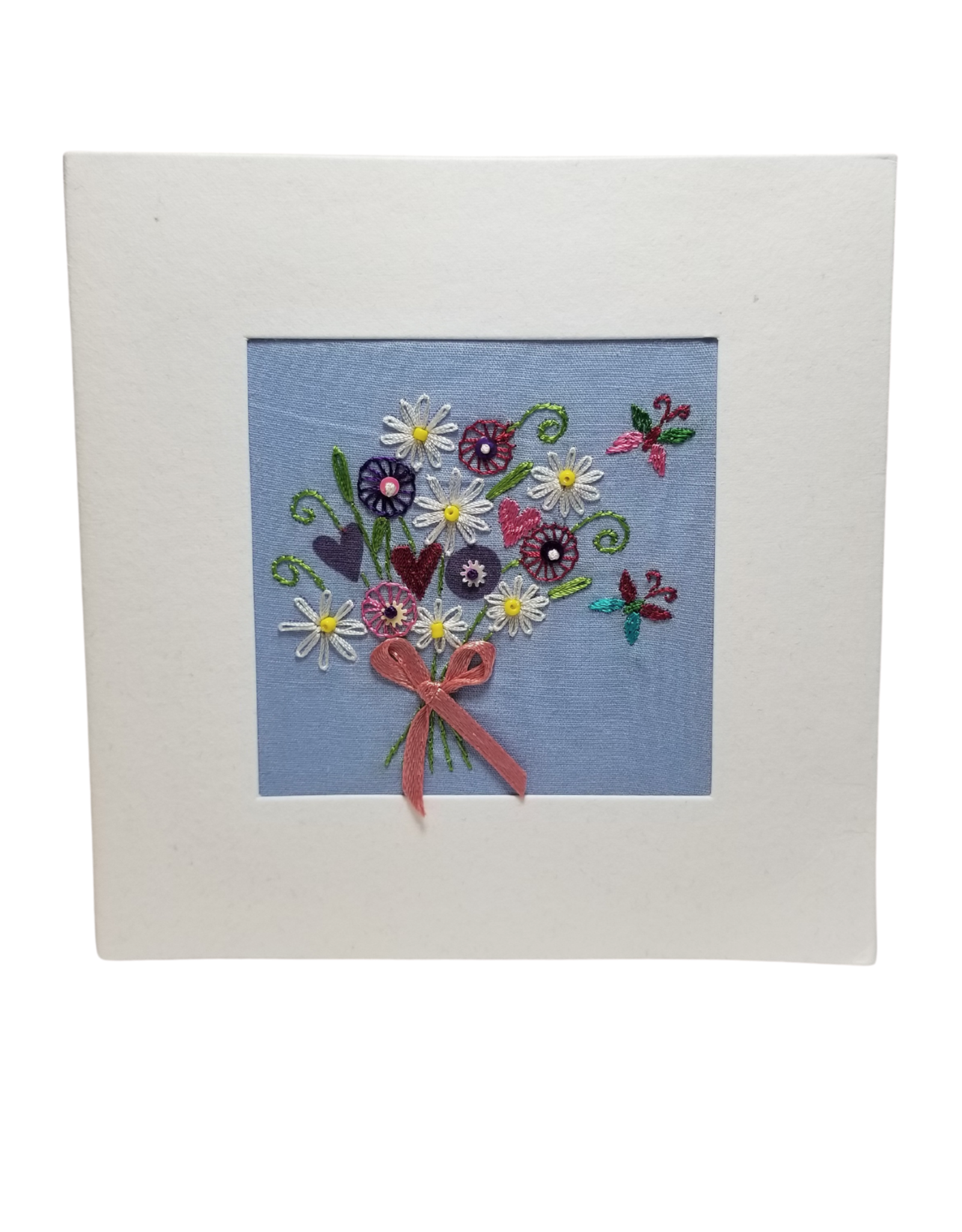 Embroidered Bouquet Card