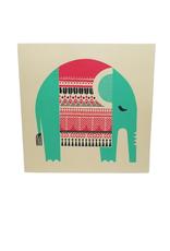 Resting Elephant Card