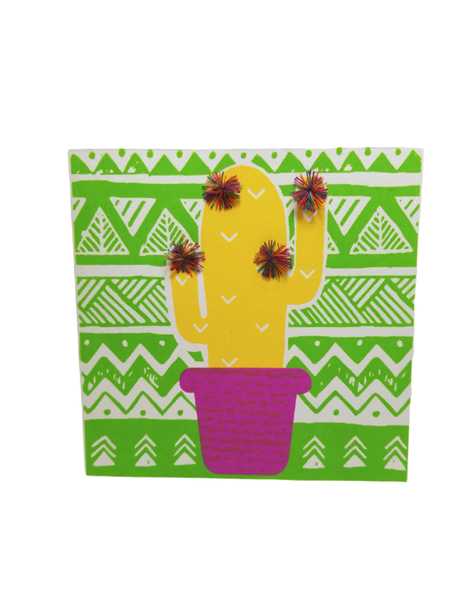Pom Pom Cactus Greeting Card