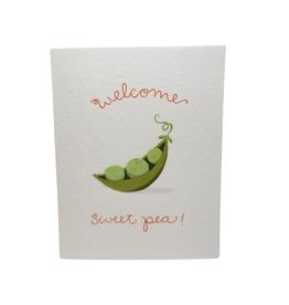 Welcome Sweet Pea Card
