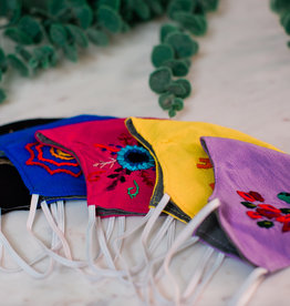 Face Mask Embroidered Duckbill, Assorted - Guatemala