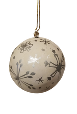 Global Crafts Ornament, Handpainted Silver Snowflakes
