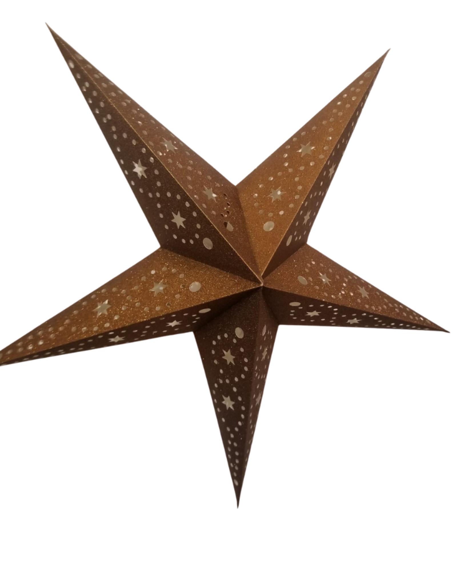 Ten Thousand Villages Bronze Glitter Star
