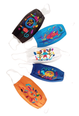Lucia's Imports Face Mask Kids Embroidered
