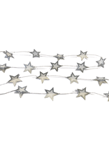 Ten Thousand Villages Silver Mini Stars Paper Garland