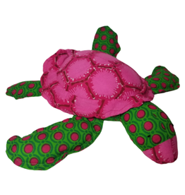 Ten Thousand Villages Cuddly Turtle - Pink