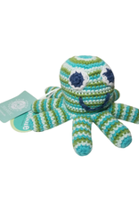 Pebbles Green Octopus Rattle