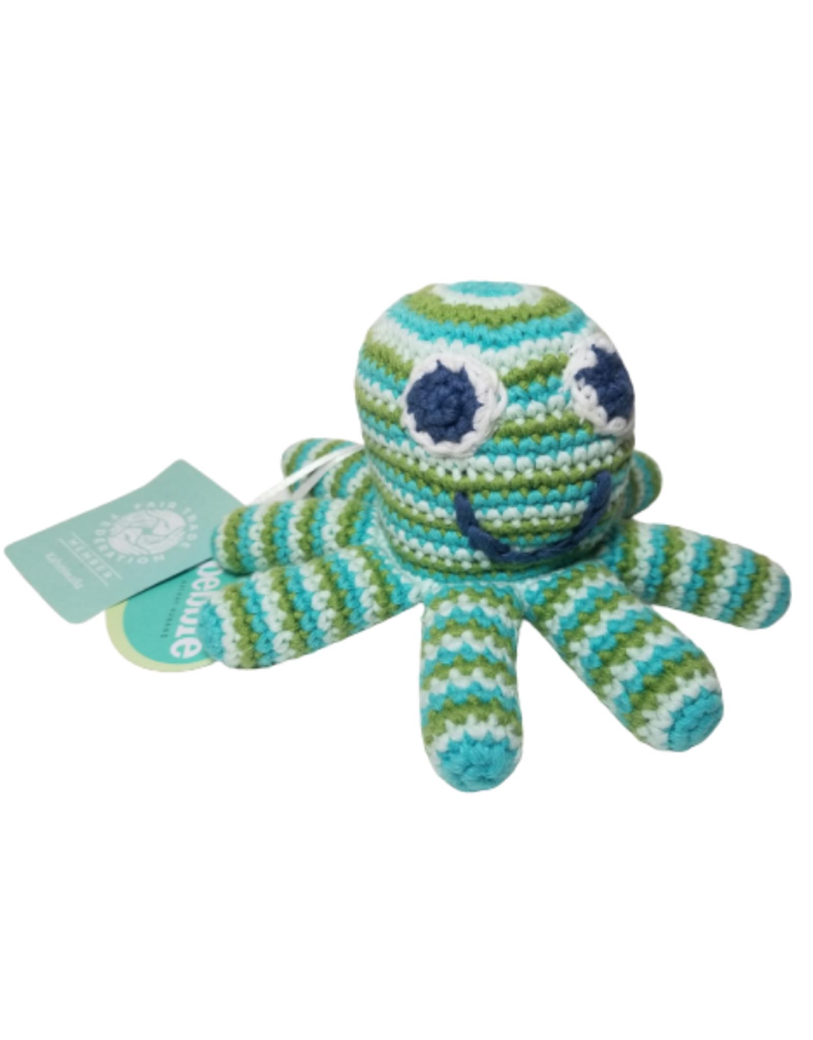Pebbles Green Octopus Rattle