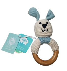 Pebbles Blue Bunny Teething Ring