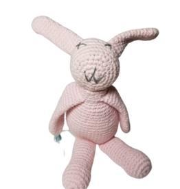 Pebbles Pink Bunny Rattle