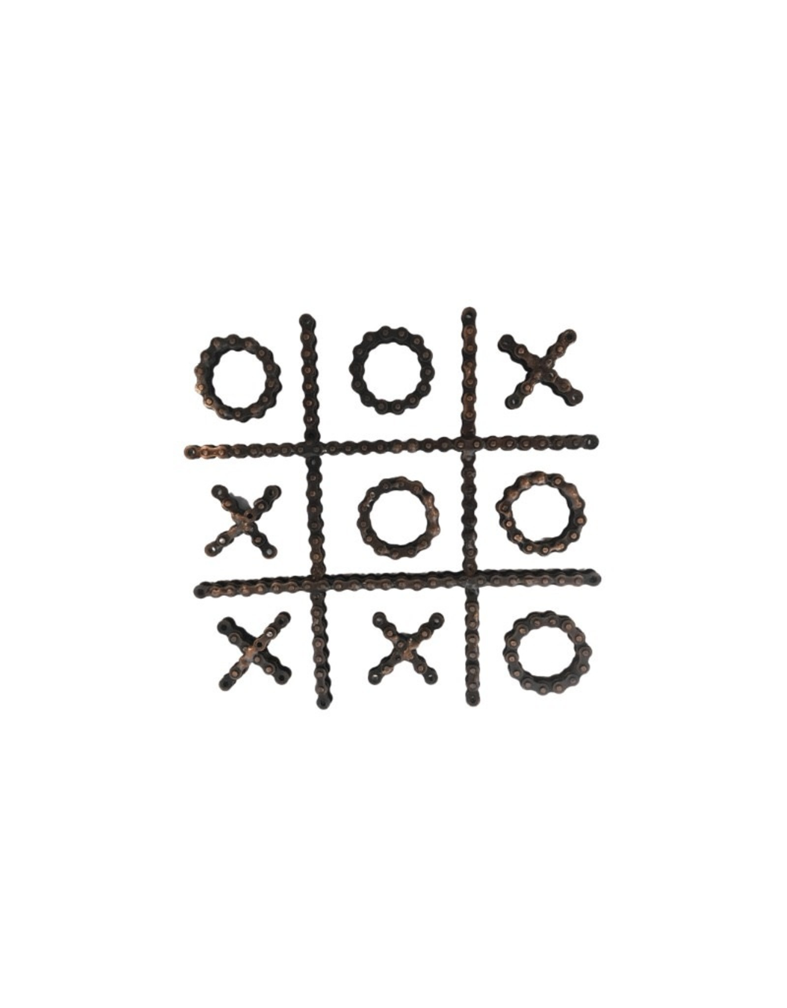 Ten Thousand Villages Tic Tac Toe Bicycle Chain Game