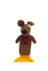 Ten Thousand Villages Brown Bunny Finger Puppet