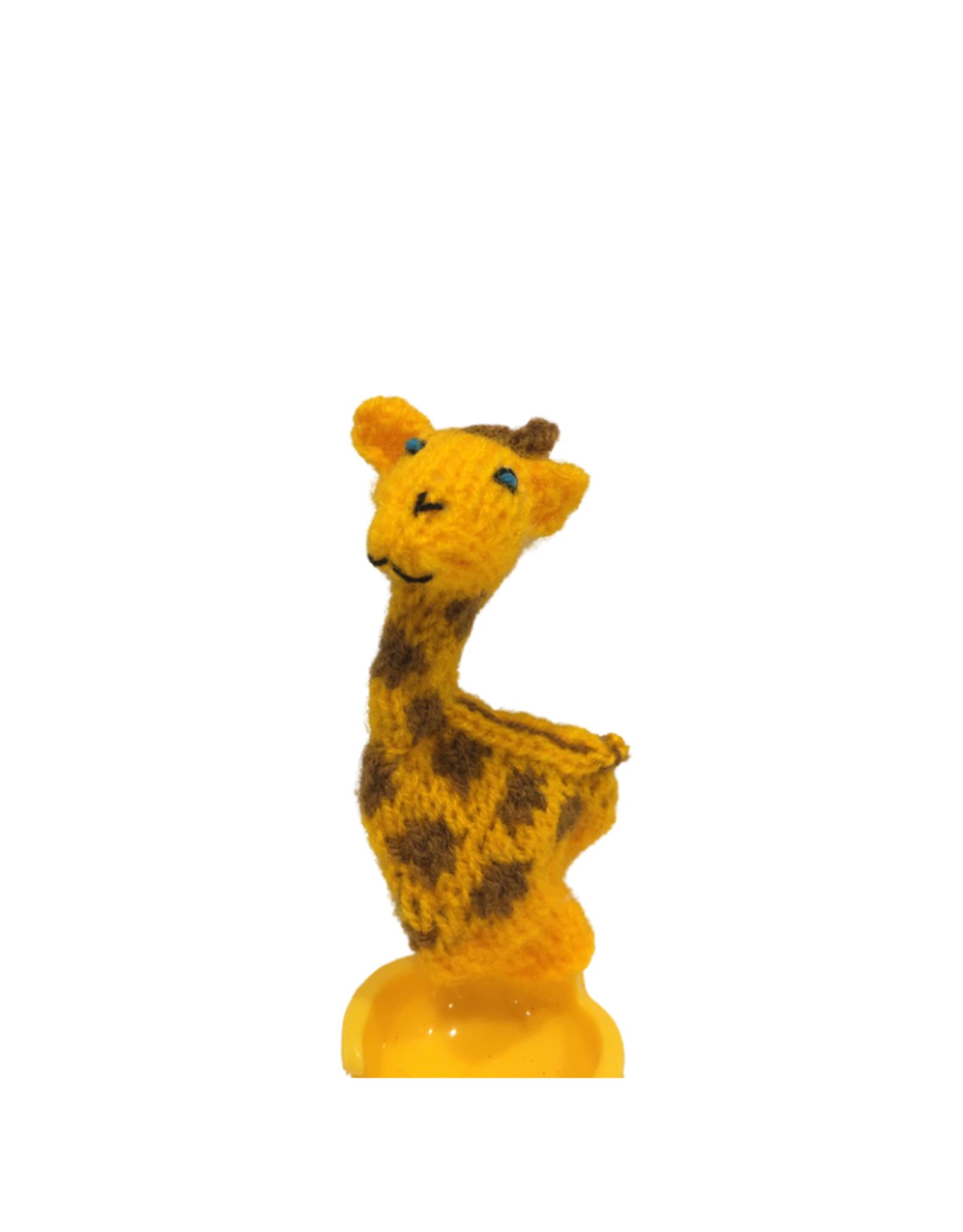 Ten Thousand Villages Giraffe Finger Puppet