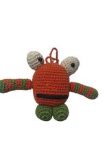 Pebbles Crocheted Monster Zipper Pull - Orange