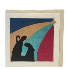Nativity Silhouette Christmas Card