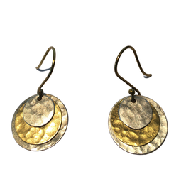Ten Thousand Villages Layered Ring Earrings