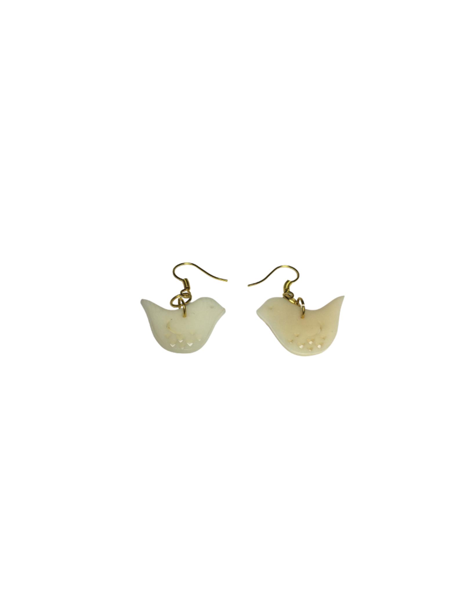 Ten Thousand Villages Dove Tagua Earrings