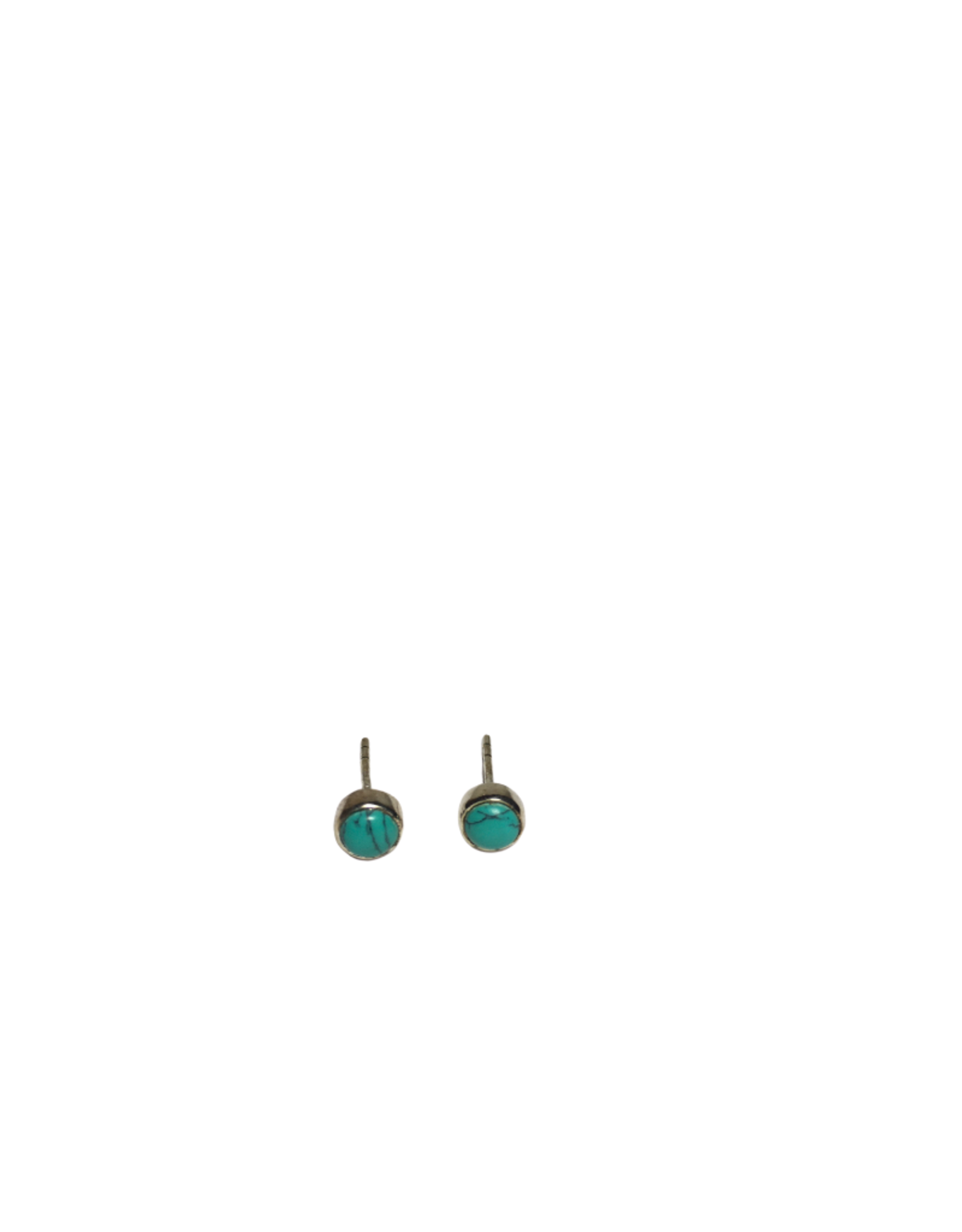 Ten Thousand Villages Turquoise Stud Earrings