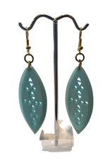 Ten Thousand Villages Celeste Jali Bone Earrings