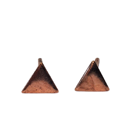 Ten Thousand Villages Rose Gold Triangle Earrings