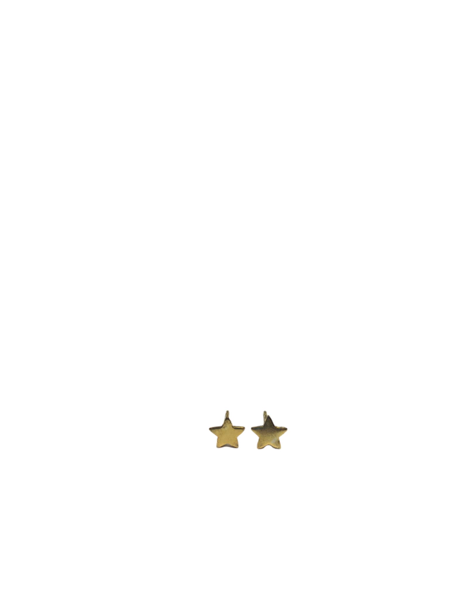 Gold Tone Star Earrings