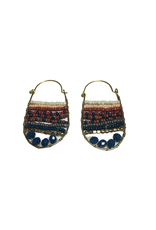 Ten Thousand Villages Gold Hanging Beaded Earrings