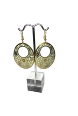Ten Thousand Villages Floral Embossed Earrings