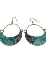 Ten Thousand Villages Wrapped Crescent Earrings