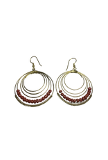 Ten Thousand Villages Tangerine Blaze Hoops Earrings