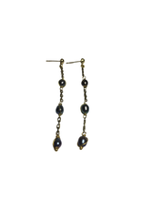 Ten Thousand Villages Iridescent Pearl Bead Earrings