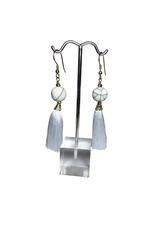 Ten Thousand Villages Crackle Bead Earrings