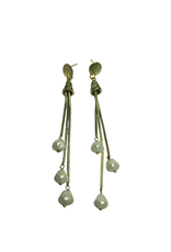 Ten Thousand Villages Drop Pearl Earrings
