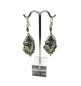 Ten Thousand Villages Triangle Beaded Earrings