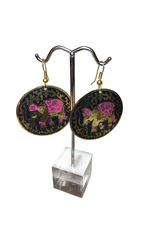 Ten Thousand Villages Enameled Elephant Earrings