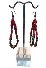 Ten Thousand Villages Two Tone Bead Earrings